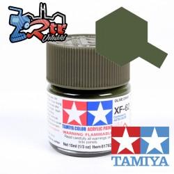 XF-62 Pintura Verde Oliva Mate 10Ml Tamiya