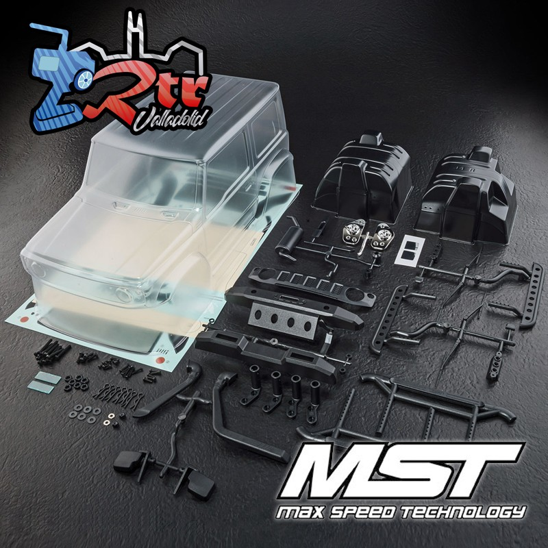 Carrocería MST J4 Suzuki Jimny (sin Pintar) Distancia ejes 242mm