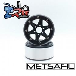 Llantas Metsafil 1.9 beadlock PT-Sixstar Negro/Negro (2 Unidades)