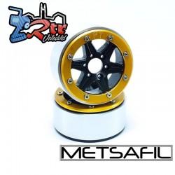 Llantas Metsafil 1.9 beadlock PT-Sixstar Negro/Oro (2 Unidades)