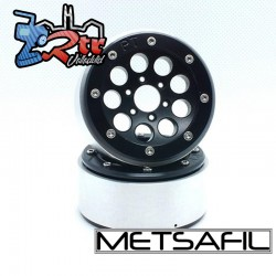 Llantas Metsafil 1.9 beadlock PT-Gum Negro/Negro (2 Unidades)