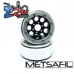 Llantas Metsafil 1.9 beadlock PT-Gum Negro/Plata (2 Unidades)
