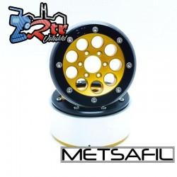 Llantas Metsafil 1.9 beadlock PT-Gum Oro/Negro (2 Unidades)
