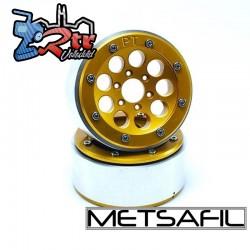 Llantas Metsafil 1.9 beadlock PT-Gum Oro/Oro (2 Unidades)