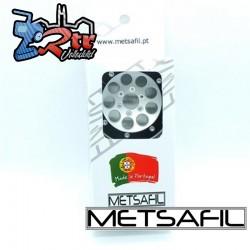 Llantas Metsafil 1.9 beadlock PT-Gum Plata/Negro (2 Unidades)