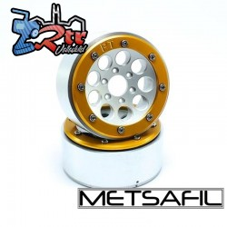 Llantas Metsafil 1.9 beadlock PT-Gum Plata/Oro (2 Unidades)