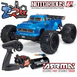 Arrma Notorius 1/8 Monster Truck Brushless BLX-4W 6s Azul RTR V5
