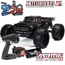 Arrma Notorius 1/8 Monster Truck Brushless BLX-4W 6s Negro RTR V5