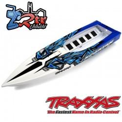 Casco Spartan Traxxas Azul completamente ensamblado TRA5718