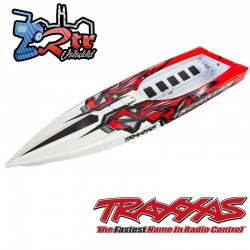 Casco Spartan Traxxas Rojo completamente ensamblado TRA5718R