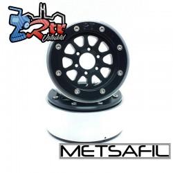 Llantas Metsafil 1.9 beadlock PT-Gear Negro/Negro (2 Unidades)