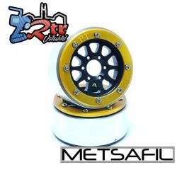 Llantas Metsafil 1.9 beadlock PT-Gear Negro/Oro (2 Unidades)