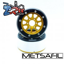 Llantas Metsafil 1.9 beadlock PT-Gear Oro/Negro (2 Unidades)