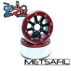 Llantas Metsafil 1.9 beadlock PT-Gear Negro/Rojo (2 Unidades)