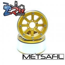 Llantas Metsafil 1.9 beadlock PT-Gear Oro/Oro (2 Unidades)