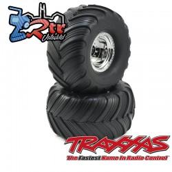 Ruedas Traxxas Groove de doble perfil Cromo 1/10 12mm TRA3665X