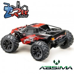 Absima Racing Monster Rojo 1/14 4Wd RTR Escobillas