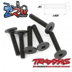 Tornillos Traxxas Hexagonal 3x15mm Cabeza Plana 6 Unidades TRA3646