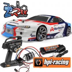 Hpi RS4 Sport 3 Drift Whorhouse James Deam Nissan S15 1/10 Escobillas 4wd
