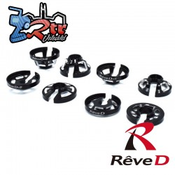 Retenedor de resorte de aluminio Reve D 6 mm (2 piezas) RD-007-6