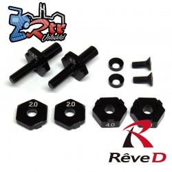 Reve D Juego de eje delantero superligero de aluminio para RWD Drift (2 juegos)