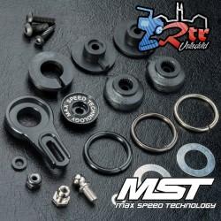 MST Servo Saver 8 posiciones ajustable aluminio Negro MST820127BK