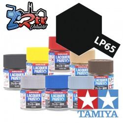 LP-65 Pintura Laca Negro Goma Plano 10Ml Tamiya