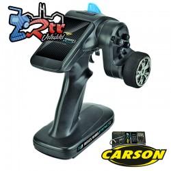 Emisora Carson Reflex Wheel PRO 3 2.4G + Receptor Bec Color Negro
