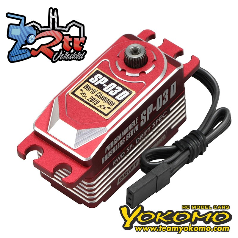 Servo Yokomo SP-03D Brushless Rojo programable (RWD Drift Spec/16.0kg/6.0V)