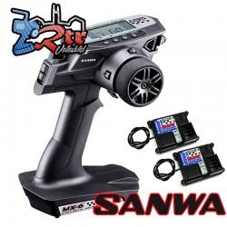 Radio Sanwa MX-6 FH-E Transmitter + 2 x Receptor RX391W Waterproft