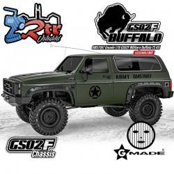 Gmade 1/10 GS02F Buffalo TS Militar Crawler 4wd Kit de emsamblaje