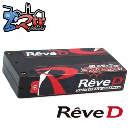 Lipo Reve D Shorty 3700mAh 7.4V 2S 200C/100C 4mm
