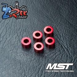 Arandela MST aluminio 3x5,5x3,0mm rojo (5 piezas) MST820028R