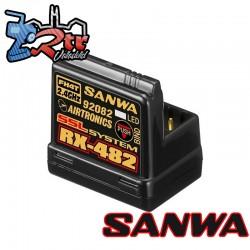 Receptor RX-482 WP FHSS-4 2,4 GHz Telemetría Sanwa
