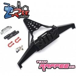 Parachoques delantero de metal realista con ganchos de remolque Team Raffee