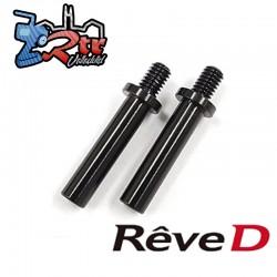Tapón de nudillo de aluminio Reve D para nudillo delantero RD-001 ASL (3,0 mm de diámetro, 2 piezas)