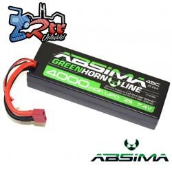 Lipo Absima 2s 4000 Mha 50C Caja dura Conector Tdeam