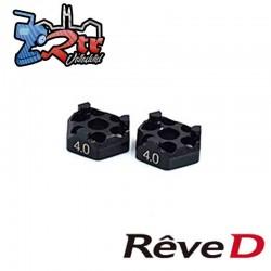 Espaciador de rueda Reve D de latón 4.0 mm para RD-005 (2 piezas)
