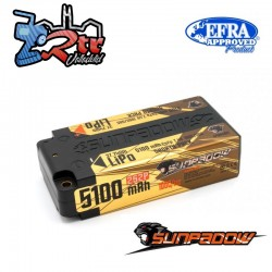 Lipo Sunpadow Akku 2s 5100 Mha 100C/50C Caja dura HardBox 2s