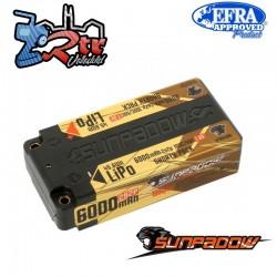 Lipo Sunpadow Akku 2s 6000 Mha 100C/50C Caja dura HardBox 2s