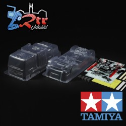 Carrocería Tamiya Race Truck Actros Mercedes-Benz MP4 1/10 Motorsport Transparente