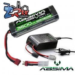 Combo Batería Nimh 3600 mAh 7.2V 2/3A Absima con Cargador