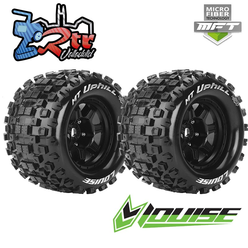 "Ruedas Louise 17mm Monster 3.8"" MFT-MT-UPHILL 0 Outset Pegadas Rellenas LR-T3322B"