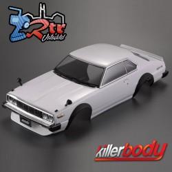 Carrocería (1977) Skyline Hardtop 2000 Turbo GT-ES 1/10 Pintada 195mm Blanco