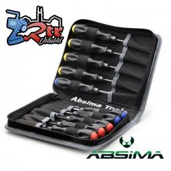 Juego de herramientas Absima de alto rendimiento (10 piezas) incl. Bolsa 3000057