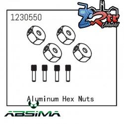 Tuercas hexagonales de aluminio Absima 1230550
