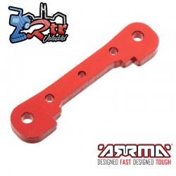 Soporte de suspensión Delantero Aluminio Rojo Arrma AR330378