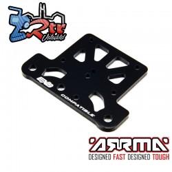 Placa superior de aluminio, negra Arrma ARA320598