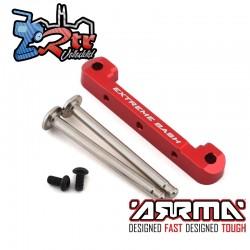 Soporte de suspensión de aluminio superior delantero CNC rojo EXB Arrma ARA330659