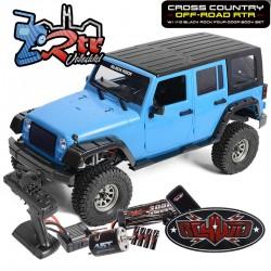 RC4WD Cross Country off Road RTR 4WD 1/ 10 Cuerpo Black Rock de 4 puertas en azul y negro